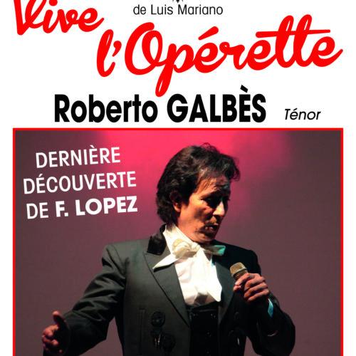 Plaquette oprérette Vive l'opérette 50 ans lUIS Mariano