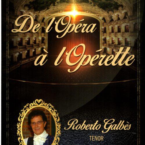 Plaquette de l'opéra à l'opérette Roberto